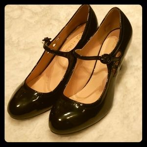 Chase & Chole blk Patent Leather Mary Jane's, sz 8
